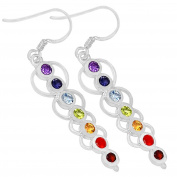 Xtremegems Caduceus Healing Chakra 925 Sterling Silver Earrings Jewellery 5.1cm CP166