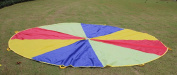 Play Parachute - 3m - Multi colour - 8 Handles & Storage Bag - Indoor / Outdoor - Educational Kids Group Play & Activity Learning Toy for Children