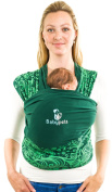 INSANE DEAL! RRP £49 TODAY FLASH SALE £24 Spare Your Back & Save 2 Hours daily w/ Babypeta No Hands Baby Wrap - Newborn Baby Carrier Perfect for On the Go Moms - Easy To Tie & Helps Build Bond GREEN