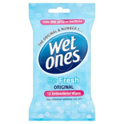 Wet Ones Be Fresh Cooling Original Wipes 12 per pack