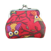 FEITONG 2016 New Women Cute Owl Small Wallet Hasp Purse Clutch Bag