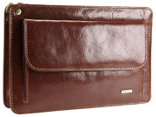 Visconti Mens Leather Travel Organiser Wrist Bag With Mobile Phone Pouch - 02617