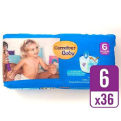 Carrefour Baby Ultra Dry Pull On Size 6 Essential Pack 36 per pack