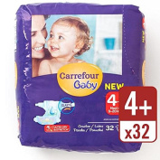 Carrefour Baby Ultra Dry Size 4+ Nappies Carry Pack 32 per pack