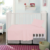 Cot 60 x 120 cm Pink Superior Egyptian Cotton Fitted Sheet By Sleep & Smile : Pink