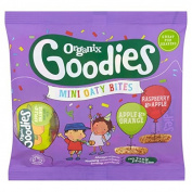 Organix Goodies Apple & Orange, Raspberry & Apple Mini Oaty Bites 110g