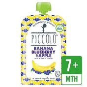 Piccolo Organic Apple, Banana & Blueberry with Hint of Vanilla 100g