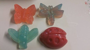 Butterfly, ladybird, dragonflies shaped soaps SLS and fragrance free suitable for sensitive skin