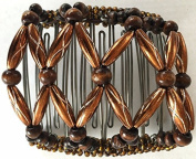 Side comb Hair clip Hair Clamp Beauty Hair accessories hair clip Choice - Brown Beads with Metal comb - LK Trend & Style
