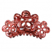 Phenovo Large Flowers Floral Hair Clamp Claw Clip Comb Grip Multi-colour - Claret-red, taille unique