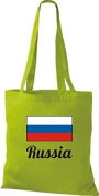 ShirtInStyle Tote bag Cotton bag Country jute Russia Russia - Kiwi, 38 cm x 42 cm