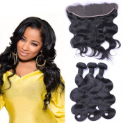 """Puddinghair Brazilian Human Hair Full Lace Wigs With Baby Hair Bundles With Closure,Body Wave 3 Bundles With 13*4 Human Hair Lace Front Wigs 28""""28""""28""""+Closure20"""""""