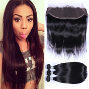 "Puddinghair Brazilian Human Hair Full Lace Wigs With Baby Hair Bundles With Closure,Straight 3 Bundles With 13*4 Human Hair Lace Front Wigs20""22""24""+Closure16"""