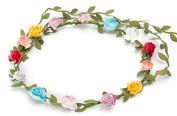 BFD One boho floral head garland flower headband floral headdress wedding festival