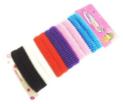 Mytoptrendz® Pack Of 12 Soft Mixed Colour Hair Ponio band/ bobble / hair band/ Soft Gentle ponytail holder Hair Elastic