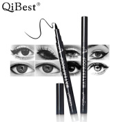 QiBest Waterproof Eyeliner Pencil Long Lasting Eyeliner Black Big Eyes Fast-dry Pencil Smudge-proof Makeup