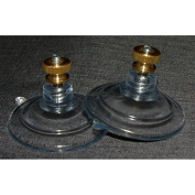 Pair 47mm suction cups with stud and nut