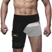 Yosoo Groyne Support,Adjustable Groyne Pain Wrap One Size Fits Most - Neoprene Brace with hook and loop Fastener Slip Resistant