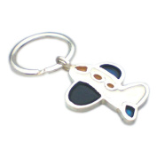 Keychain Sterling Silver with enamels Reason Avion Coleccion Atika