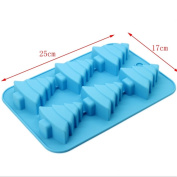 Fondant Silicone Moulds For Cake Decorating Silicone Chocolate Candy Jelly Soap Candle Ice Mould Baking Christmas Tree Model