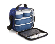 TATAY 1167508 Urban Food Dots Blue - Insulated Food Bag with Airtight Tapers.