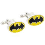 CMJ Batman Black and Yellow Cuff Links . Mens Cufflinks in gift bag UK Seller