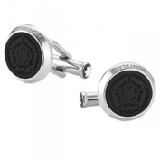 Montblanc Shakespeare Stainless Steel RG Coloured PVD Black Inlay Cufflinks