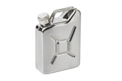 90ml Stainless Steel Jerry Can Hip Flask Utility Fuel Petrol Can Style .