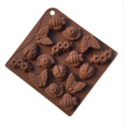 Silikomart Chocolate Mould Ice Cube Tray Insect Silicone Muffin Moulds Bakeware Muffin Cake Cupcake Cup Cake Mould Cupcake Baking Cake Pudding Jelly