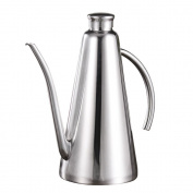 MyLifeUNIT 1 L Olive Oil Dispenser, Stainless Steel Olive Oil Can Drizzler with Drip-free Spout