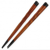 Ecloud Shop® Japanese Style Bamboo Chopsticks Long Brown Light Weigt 2 Pairs Kitchenware