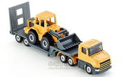 Low Loader with Front Loader, Siku 1616 Die Cast Model Machinery