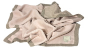 Baby Blanket Girl Pink 100% Babyalpaca, 31inch x 40inch (80cm x100cm) - Collection Royal - Doubleface Pink