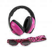 Baby Ear Muff and Babybanz two piece combo Pink Magenta