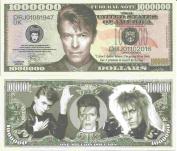 Novelty Dollar David Bowie Robert Jones Commemorative Million Dollar Bills x 4 English Singer