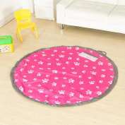 yazi 150cm Portable Easy Tidy Play Mat Pad Toy Storage Bag Organiser for Lego Duplo Children's Toys Faster Cleanup Hot Pink