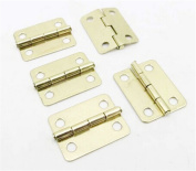 Z-Standby 5Pcs 2.3 * 1.9cm Imitation Copper Small Folding Hinge with 4 Holes Mini DIY Woodworking Model Metal Crafts Fixture