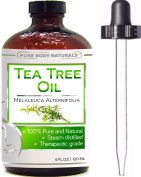 Pure Body Naturals Tea Tree Essential Oil Pure 120ml Premium Melaleuca Therapeutic Grade From Australia, Use With Soap & Shampoo, Face & Body Wash, Treatment For Acne, Lice & Many Skin Conditions