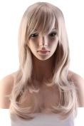 S-noilite® 60cm Cosplay Anime Wig Long Layer Wavy Full Wigs Linen Blonde Party Fancy Dress Halloween
