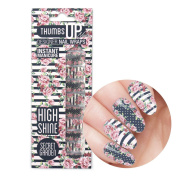 New ThumbsUp Nails - Secret Garden Floral Nail Wraps 20 Wraps / Pack
