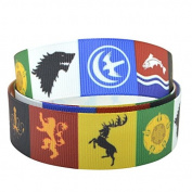 2m x 22mm GAME OF THRONES GROSGRAIN RIBBON FOR BIRTHDAY CAKE'S, GIFT WRAP WRAPPING