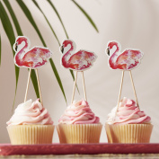 Ginger Ray Flamingo Cupcake / Food Toppers Ideal For Summer Parties, Bbq'S And Hawaiian Themed Parties - Flamingo Fun