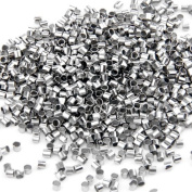 Skyllc® 1000 X Silver Plated Tube Crimp End Beads Findings 2mm CHIC