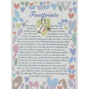 FOOTPRINTS Guardian Angel Lapel Pin & Inspirational Message Card Gift