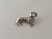 D12 Dachshund pin badge fine english pewter pin badge with a prideindetails gift package
