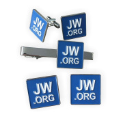 Gudeke JW.ORG Cufflinks and Tie Clip and 2 Pins Set
