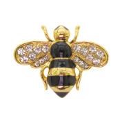 Brooch Boutique Enamel Crystal Bronze Little Bee Brooch Broach Mothers Day Gift