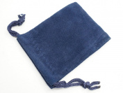 Blue Velvet Pouches with Drawstring for Jewellery Gift Bags (5x7cm) - Pack of 8