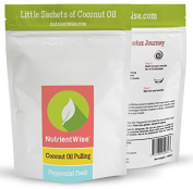 NUTRIENT WISE Official Coconut Oil For Pulling Kit - Natural Teeth Whitening Detox - Peppermint Flavour -