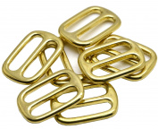 """Okones Pack of 6pcs,1""""(25mm) Inner Width,Solid Brass Rectangle Buckle Loop Ring Belt and Strap Keeper for Backpack Bag Accessories"""